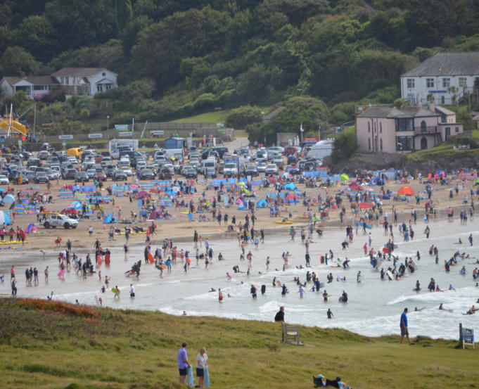 Polzeath can get quite busy